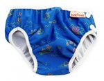 Swim Diaper blue with fishes (4-17kg)
