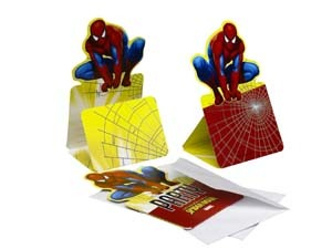 Spiderman Einladungskarten, 6er Pack