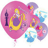 Princess Balloons, 6 pieces, colored printed