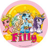 Filly edible Sugar Cake topper, 16cm