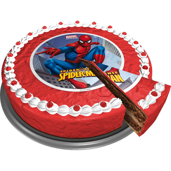 Edible D Spiderman Cake Topper