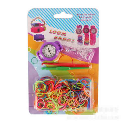 DIY Loom Band Uhr Set violett