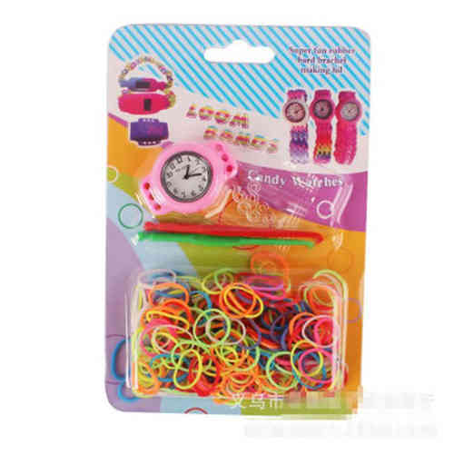 DIY Loom Band Uhr Set rosa