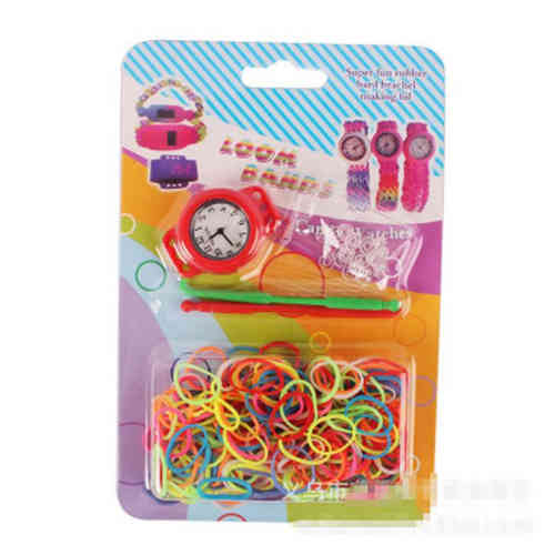 DIY Loom Band Uhr Set rot