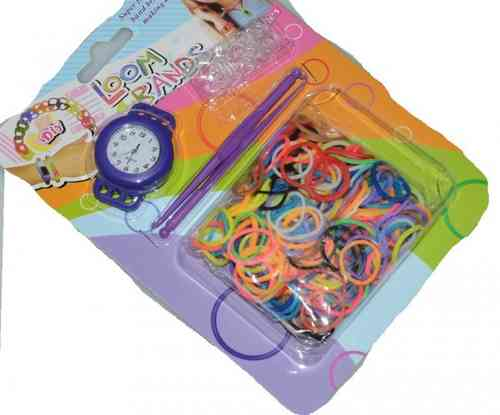 DIY Loom Band Uhr Set blau