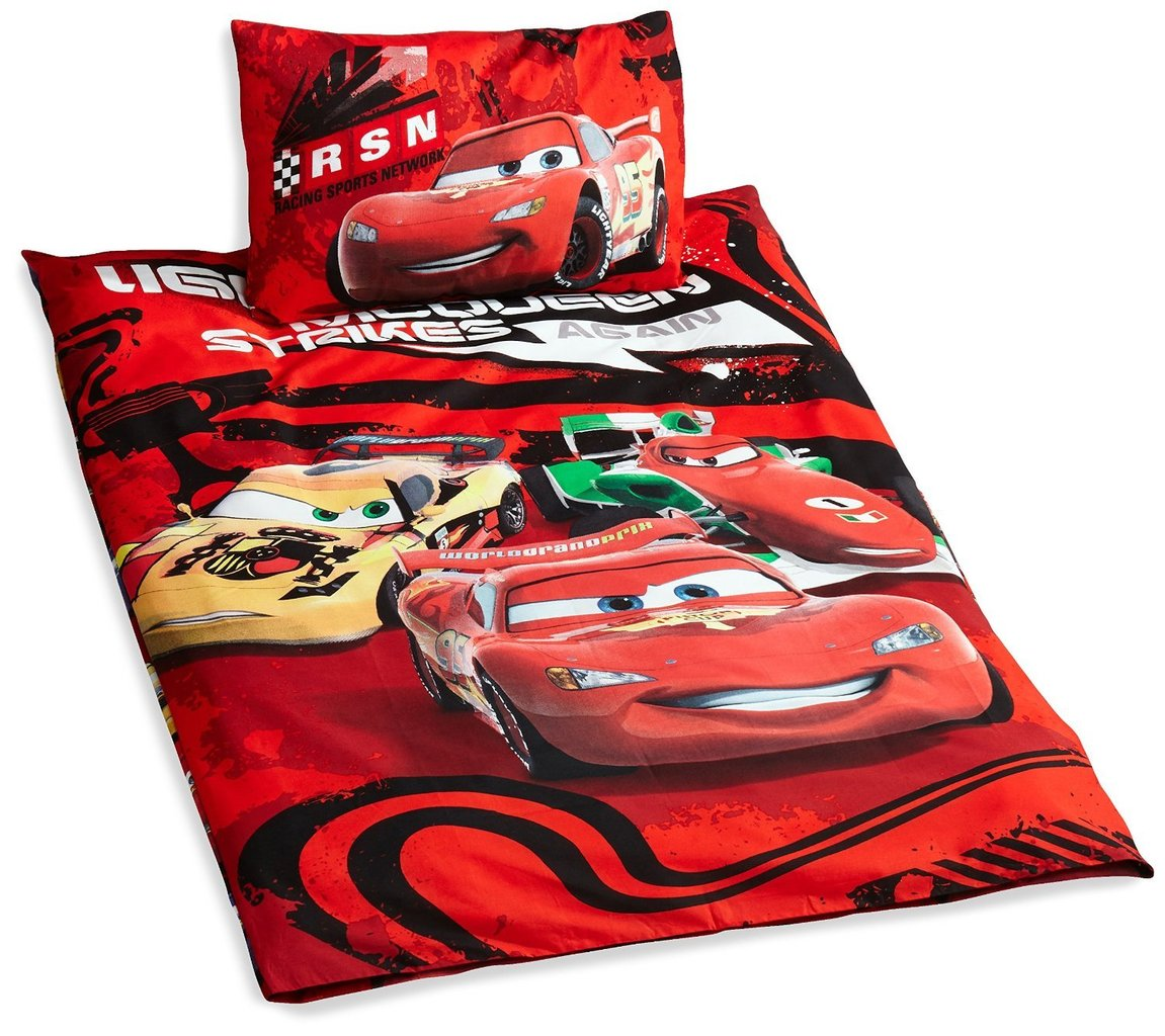 bettw sche disney cars 100x135 cm morgenthaler 39 s babyshop. Black Bedroom Furniture Sets. Home Design Ideas