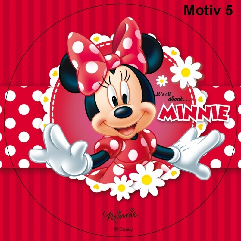 Minnie Mouse Red Edible Image Cake Topper 20cm