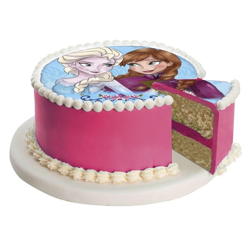 Frozen Anna Elsa Edible Sugar Cake Topper 16cm