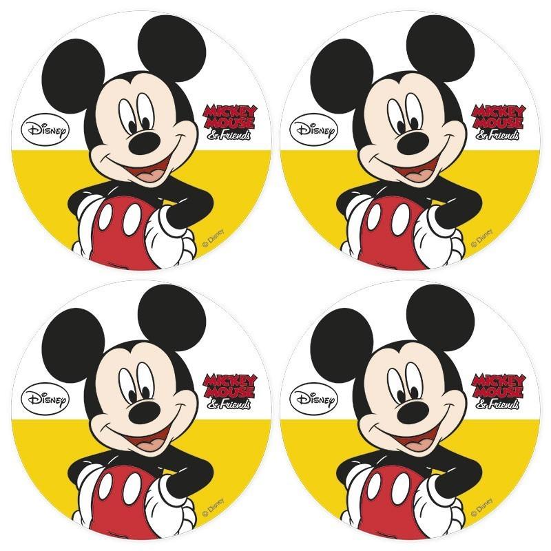 Mickey Mouse edible Image cupcake topper, 4,5cm 12pcs. Mickey Mouse Cupcake Toppers Printable